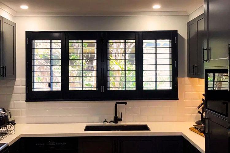 Hinged PVC Interior Shutters Kitchen